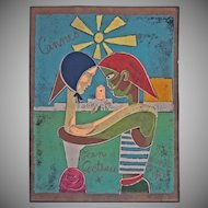Cannes Jean Cocteau Silkscreen Poster Numbered 12/250 - c. 1961, France