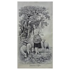 Joan of Arc Silk Jacquard Picture / Silk Tapestry Neyret Freres after Fernand Lematte - Early 20th Century, France