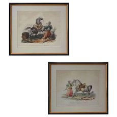 Pair Mameluk and Horse Aquatint Etchings after Carle Vernet - c. 19th Century, France - Red Tag Sale Item