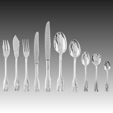69 Pc Plata Lappas Colbert Pattern Silverplate Flatware Set - 20th Century, France / Argentina