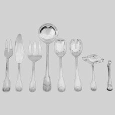 Serving Pieces Plata Lappas Colbert Pattern Silverplate Flatware Set Eight / 8 - 20th Century, France / Argentina