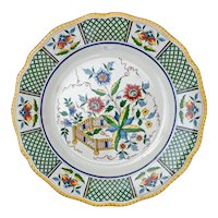 French Sarreguemines Montmorency Chinoiserie Dinner Plate - c. 1875 - 1900, France