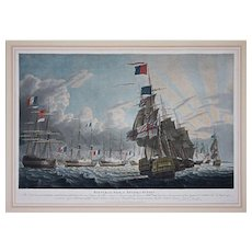 Set 3 Battle of the Nile Aquatints by Robert Dodd , Lord Nelson - 1799, England