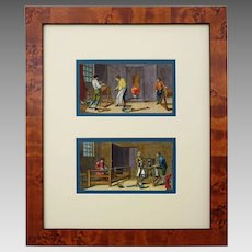 Diderot 18th Century Occupations Engraving Framed Vertical