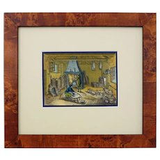 Diderot 18th Century Occupations Engraving Framed Horizontal