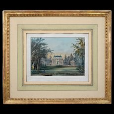 Dutch Architectural Lithograph Leeuwenburgh House by Steuerwald after Lutgers - c. 1860, The Netherlands