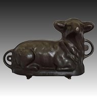 Griswold Cast Iron Lamb Early American Cake Mold N°866 ( 921 front / 922 back) - 20th Century, USA