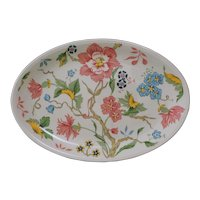 Villeroy & Boch Chintz Pattern Oval Plate Tray Appetizer Key Card Replacement Discontinued - 20th Century, Luxembourg