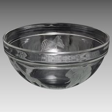 Africa / Kenya Wild Animals Etched Glass Bowl Large