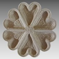 Stoneware Heart Shaped Dish after early Staffordshire MMA mark - 20th Century, USA