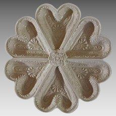 Stoneware Heart Shaped Dish after early Staffordshire MMA mark - 20th Century, USA