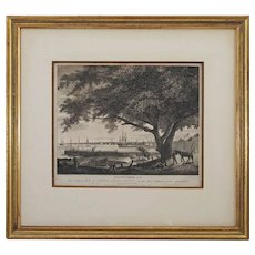 Birch Views of Philadelphia Etching PENNS TREE, with The City Port of PHILADELPHIA - circa 1860, United States