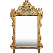 French Mirror Directoire Style Gilt Carved Wood Antique Rectangular - c. 19th Century, France