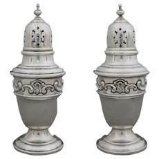 Gorham Sterling Strasbourg Pattern Salt & Pepper Shaker Set 1138 - 20th Century, USA