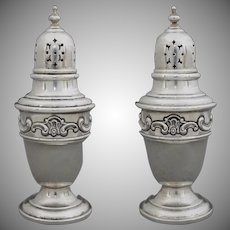 Gorham Sterling Strasbourg Pattern Salt & Pepper Shaker Set 1138 - 20th Century, USA
