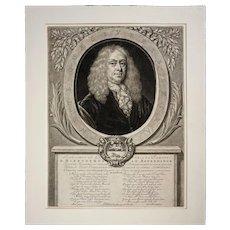 Dutch Portrait Hieronymous Van Beverningk Mezzotint - c. 18th Century, Netherlands