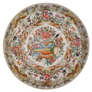Chinese Butterflies Birds Famille Rose Porcelain Plate