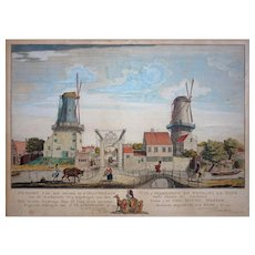 The Hague 18th Century Dutch Perspective Engraving / Optical Print - circa 1759, The Netherlands