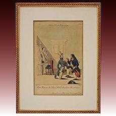 Vienna Scene Satirical Copper Engraving Theatre Scene No 52 Schoeller del Geiger sc - circa 1839, Austria