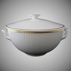 Royal Copenhagen Thorkild Olsen Tunna Ribbed Lidded Tureen  - 1958-59, Denmark
