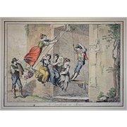 Early 1815 Antique Roman Engraving La Canofiena in Roma  Signed Bartolomeo Pinelli - c. 1815, Rome