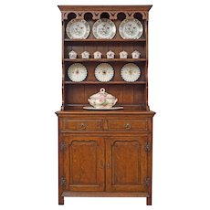 Farmhouse Oak Vaisselier / Welsh Dresser / China Hutch Cabinet Small