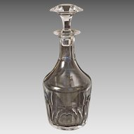 Baccarat Crystal Decanter and Stopper Cut Crystal Bretagne Pattern - 20th Century, France