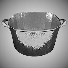 Homan Art Deco Style Ice Bucket Barware Nickel Silver Plate Handled Signed - 20th Century, USA