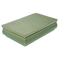 Paul Millet Sevres Celadon Lidded Glazed Ceramic Rectangular Box - after 1930, France