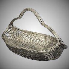 French Large Woven Centerpiece Basket / Vannerie / Panier / Corbeille