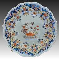 "Large 11.75"" French Faience Rouen Platter Tin Glazed - France"