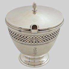 Tiffany & Co. Sterling Silver Marmalade Base & Lid  18423 - 20th Century, USA