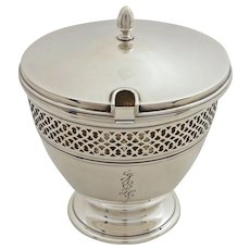 Tiffany & Co. Sterling Silver Marmalade Base & Lid  18423 - 20th Century, USA