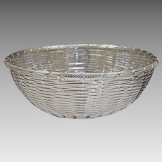 Christofle Vannerie Bread or Fruit Basket Silver Plate - 20th Century, France