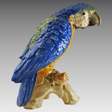 Large Parrot Porcelain Figurine CV79 Goebel - 20th Century, Germany
