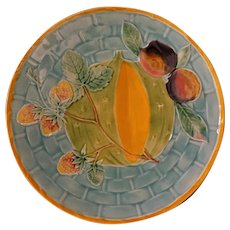 Antique Wedgwood Majolica Argenta Ware Plate English Number 2413 - circa 1870, England
