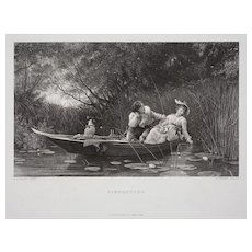 SIMPLETONS Engraving by Cousen after Fildes Black White