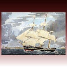 Royal Navy Sailing Frigate H. M. S. WINCHESTER E. Duncan after W. J. Huggins