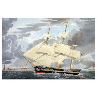 Royal Navy Sailing Frigate H. M. S. WINCHESTER E. Duncan after W. J. Huggins