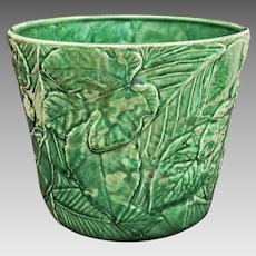 Tiffany & Co. Green Leaf Majolica Planter Large - 20th Century, Portugal