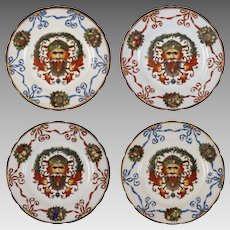 F. X. Thallmaier Set of Four Male Mask Plates - active 1890 to 1910, München