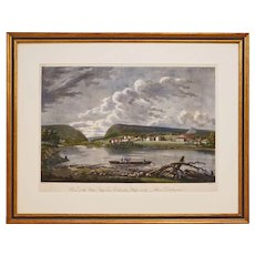 Early Americana Delaware River Aquatint Etching by Strickland after Birch - 1815-1825, USA