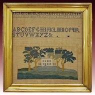 Americana Building Country House Sampler Framed