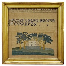 Americana Building Country House Sampler Framed