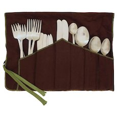 18 Pce Sweden Gense Facette for 2 Modern Flatware Set Stainless Steel Satin Finish MCM - 20th Century, Sweden