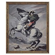 Neyret Freres Napoleon Crossing the Alps Silk Jacquard Picture after David