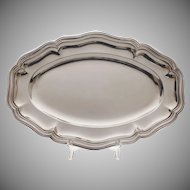 French Boulenger Oval Silverplate Serving Tray - 20th Century, France