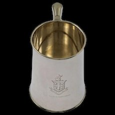 Armorial Sterling Silver Mug Dominick & Haff - 1901, New York USA