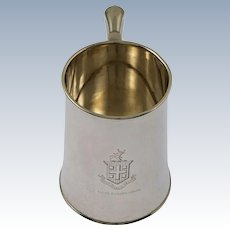Armorial Sterling Silver Mug Dominick & Haff - 1901, New York USA