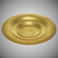 "9"" Tiffany Studios New York Bronze Plate Bowl Shape 1707 - After 1902, USA"